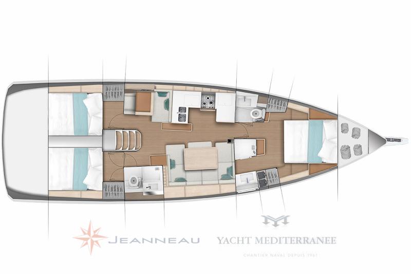 Bateau Sun Odyssey 490 - Vente à Marseille bateau Jeanneau - Yacht Méditérranée