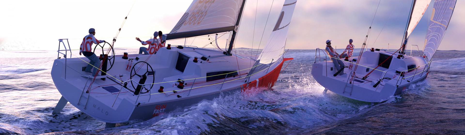 Voilier Jeanneau Sun Fast 3600, voilier de course-croisière à Marseille, Yacht Méditerranée.
