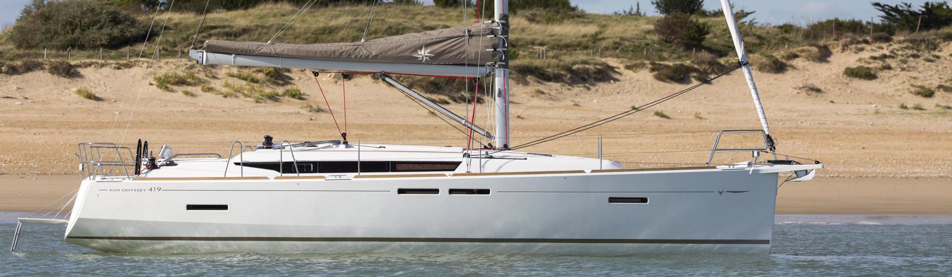 Voilier Jeanneau Sun Odyssee 419, voilier à Marseille, Yacht Méditerranée.