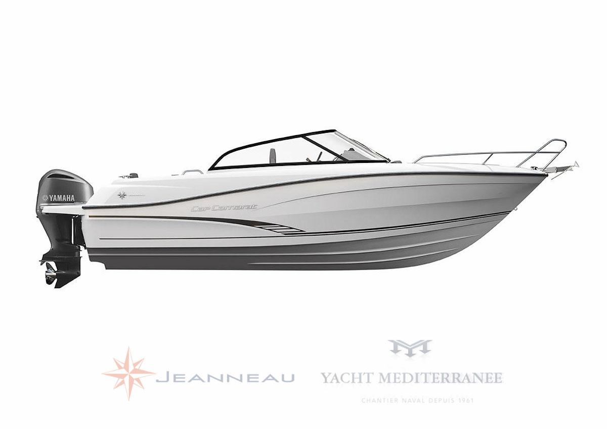 le nouveau Cap Camara bow rider 7.5BR bateau moteur in board Jeanneau bateau à Marseille Yatch-Méditerranée