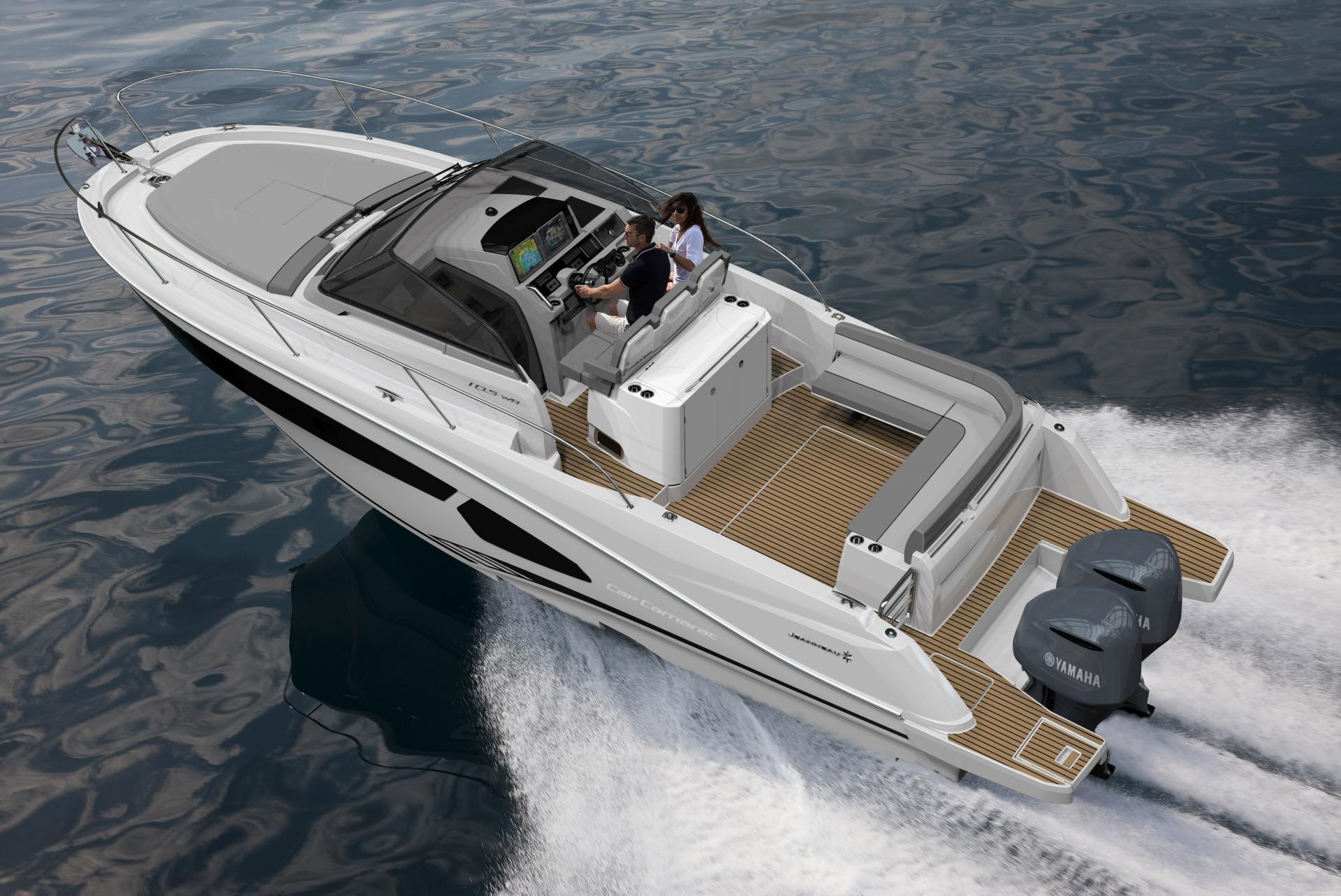 Cap Camarat 10.5 WA Walk Around Bateau Hors bord Jeanneau – Yacht Méditerranée Marseille vente de bateaux neufs et occasions