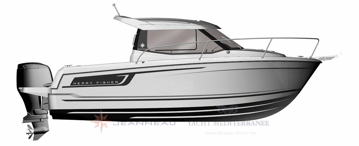 Bateau Hors bord Jeanneau Merry Fisher 695 – Yacht Méditerranée Marseille vente de bateaux neufs et occasions