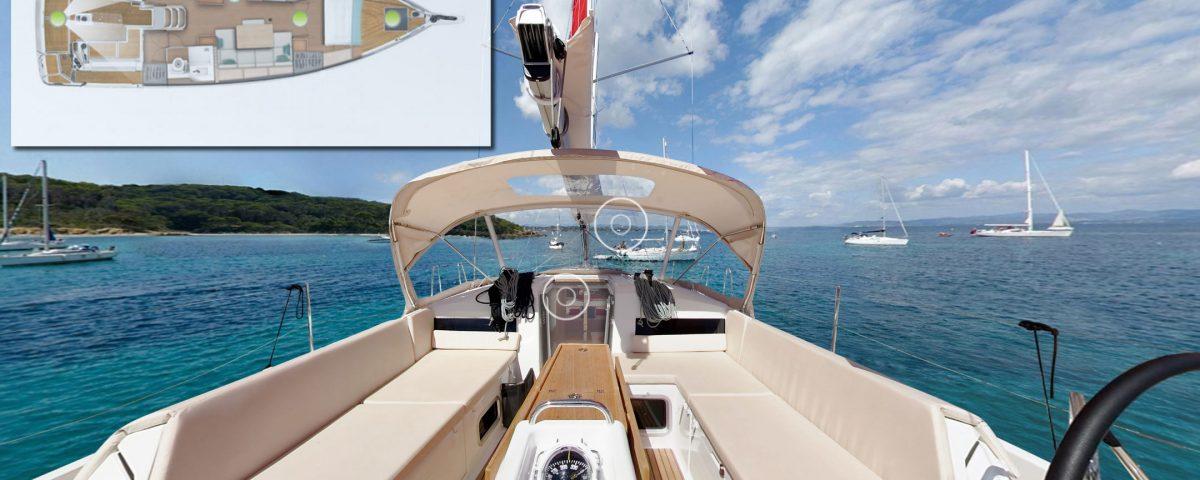 Présentation du nouveau voilier Jeanneau Sun Odyssey 440 en vision 306° - Yacht Méditérranée Marseille