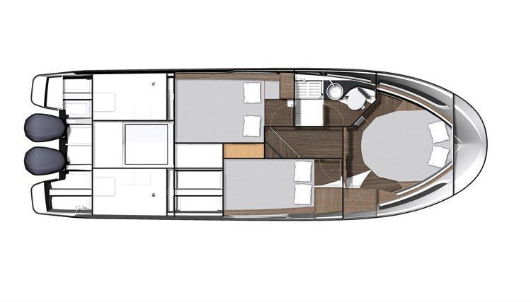 Jeanneau Merry Fisher 1095 Bateau Hors bord – Yacht Méditerranée - Jeanneau Marseille vente de bateaux neufs et occasions