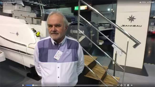 Interview de Max Cailhol dirigeant de Yacht Méditerannée lors du salon nautique de Dusseldorf