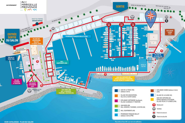 Plan du salon nautique de la Ciotat 2018