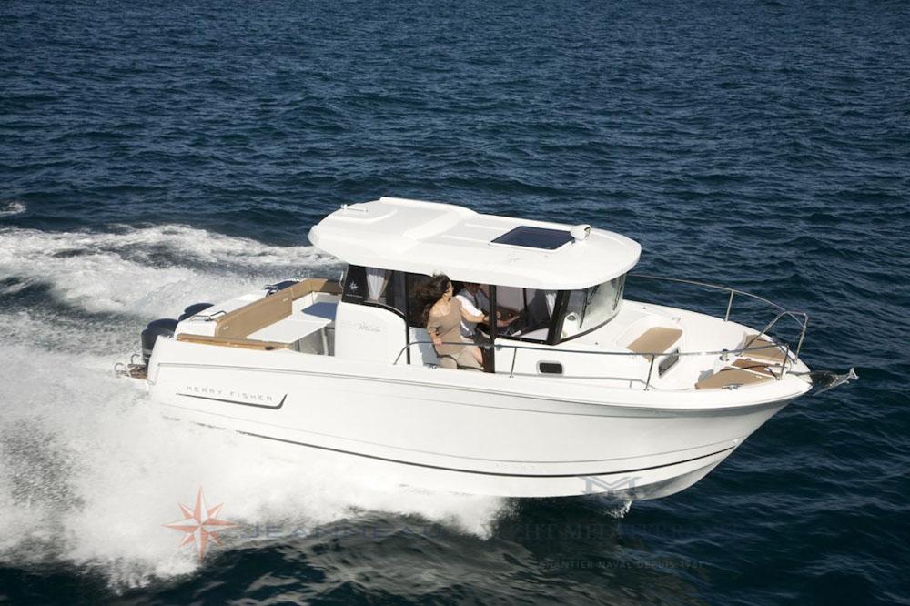 Yacht Méditerranée Marseille Jeanneau Merry Fisher 855 Marlin Bateau Hors bord