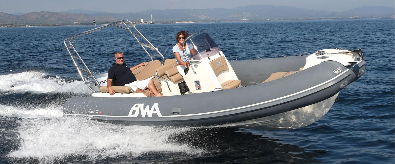 Semi rigide BWA Sport 22 GTO en vente chez Yacht Méditerranée Concessionnaire à Marseille